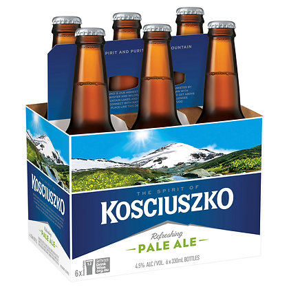 KOSCIUSZKO PALE ALE STUBBIES 6x330mL