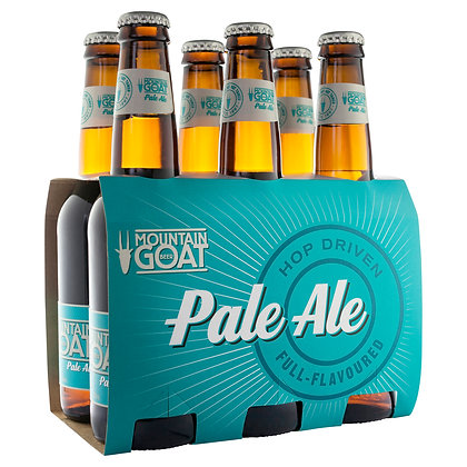 MOUNTAIN GOAT PALE ALE STUBBIES 6x330mL