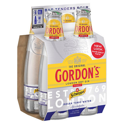 GORDON'S GIN AND INDIAN TONIC