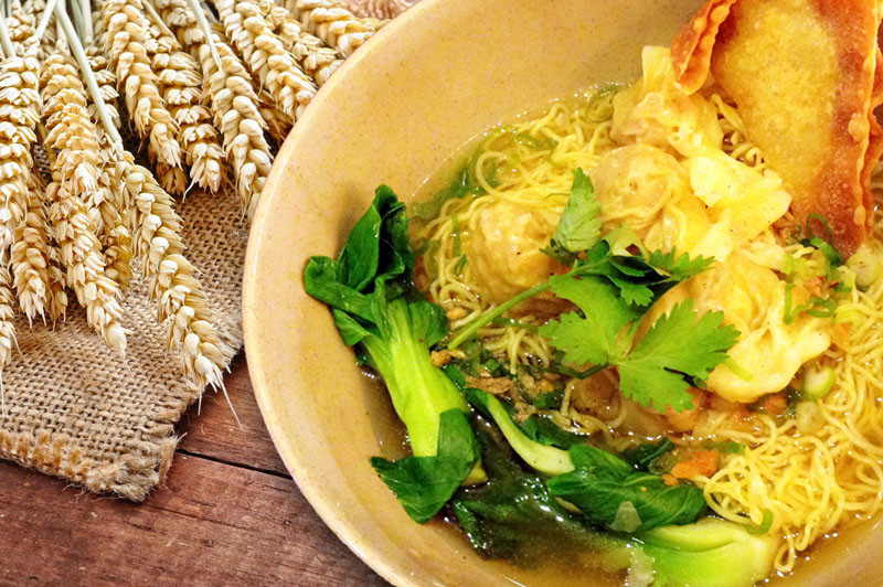 Wonton Noodle Soup - Basil Rice | Thai food Brookline
