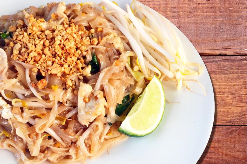 Chicken Pad Thai - Basil Rice | Thai food Brookline