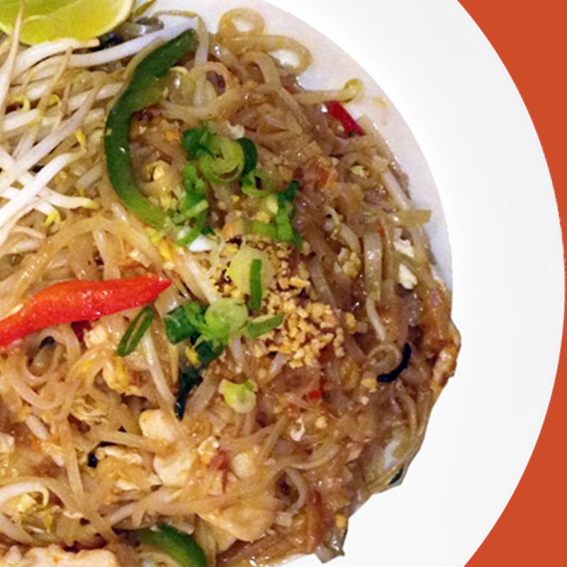 Chicken Basil Pad Thai