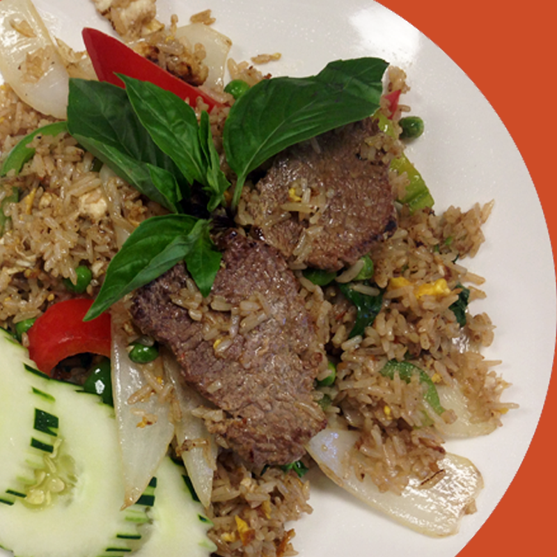 Beef Basil Fried Rice