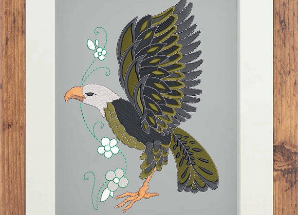 Embroidery Art  Eagle Portrait