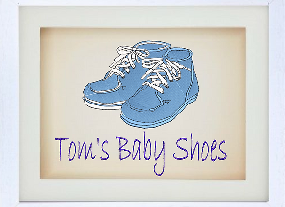 3D baby picture framed Machine Embroidered design