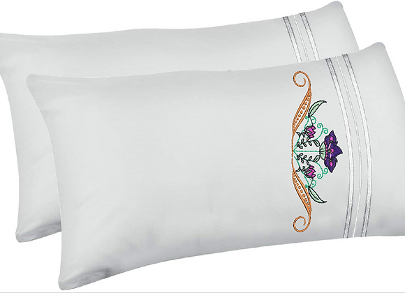 Machine Embroidery Pillowcase-Crown of Flower design