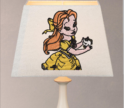 Beauty and the Beast embroidery designs