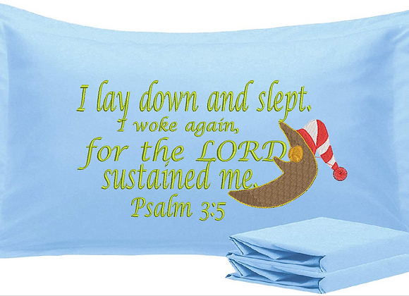 Bible Verses Machine Embroidered Pillowcases