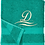 Thumbnail: Machine Embroidered monogrammed Initialled Face Towel