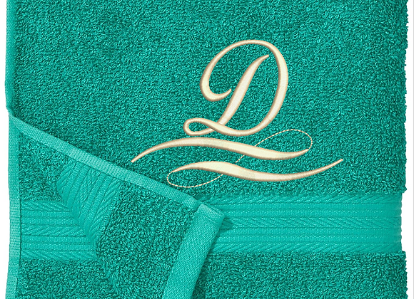 Machine Embroidered monogrammed Initialled Face Towel