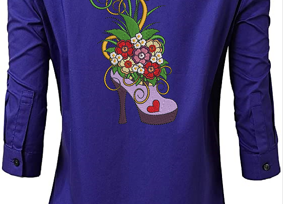 Women blouse Machine Embroidered Bright-full design