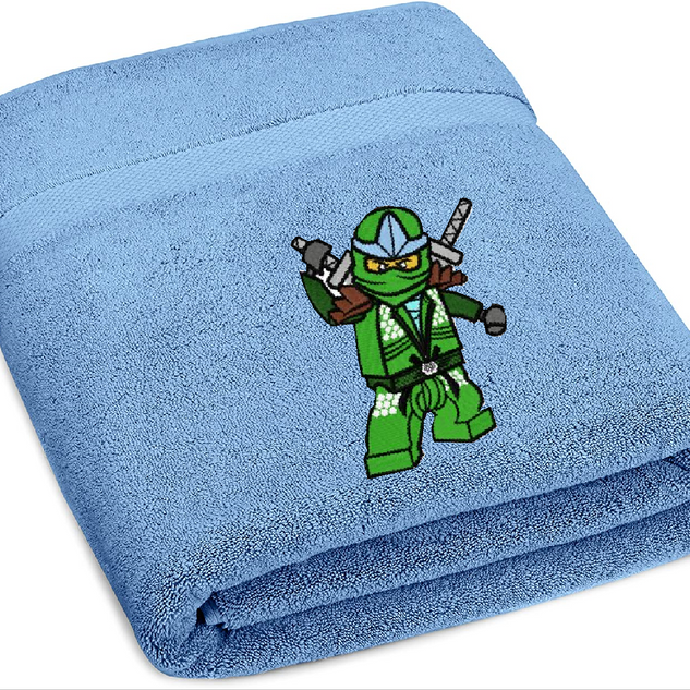 Lego Ninjago Machine Embroidered boy's bath towel