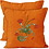 Thumbnail: Cushion cover Machine Embroidered Flower Twirls design