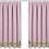 Thumbnail: Machine Embroidered Curtain -Iris Border