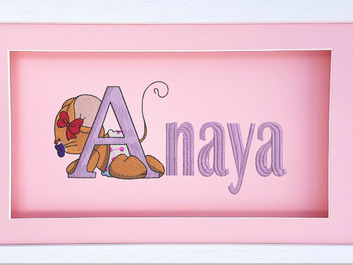 Baby Girl Mouse Alphabet