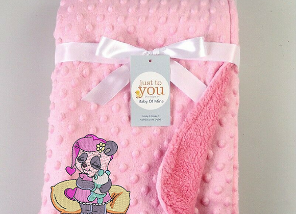 Embroidered Baby Blanket -Panda