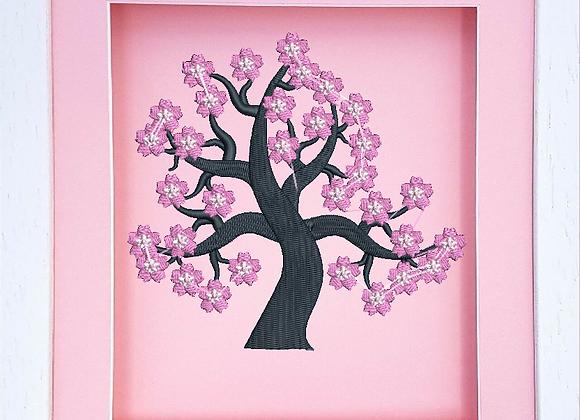Cherry Tree Machine Embroidered