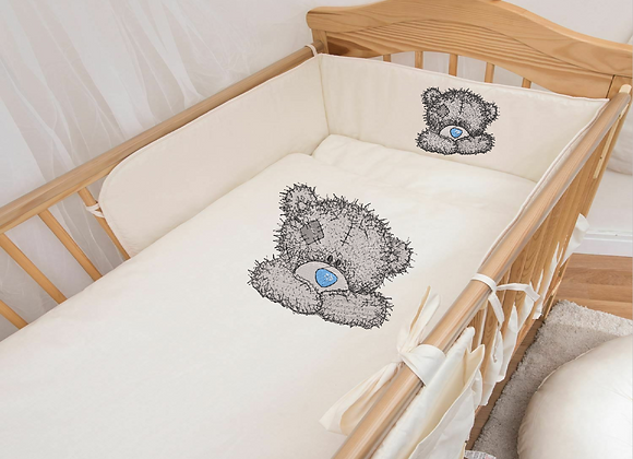 Teddy bear machine embroidered design