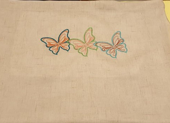 Machine Embroidery of Butterflies