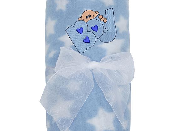 Baby boy's Machine Embroidered Blanket