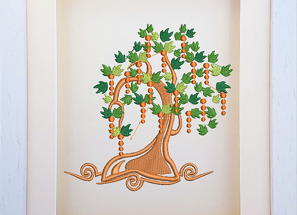 Deco Tree Machine Embroidery design