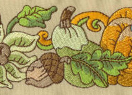 Machine Embroidery of Fall Border