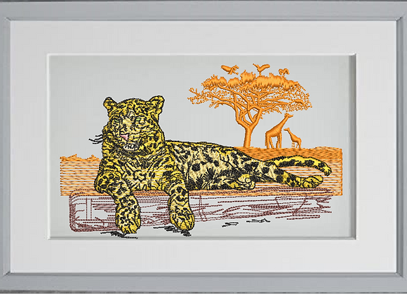 Jaguar African landscape