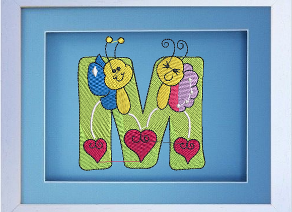 Bug Alphabet Machine Embroidery designs