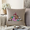 Thumbnail: Cushion Cover Machine Embroidered-Poinsettia & Birds design