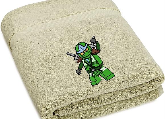 Green Ninjago Lego Machine Embroidered design