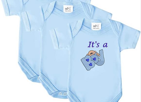 Embroidered Newborn baby vest