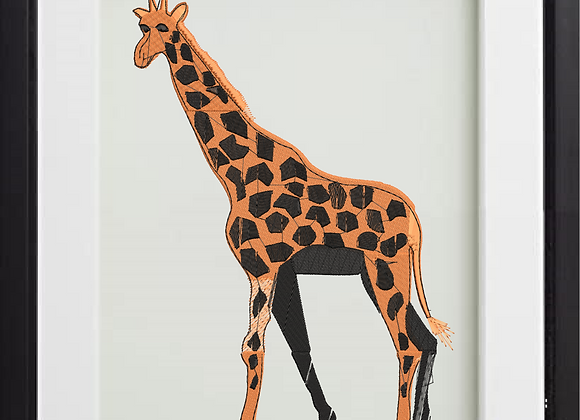 Machine Embroidered Giraffe
