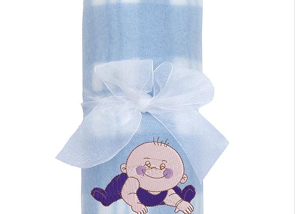 Machine Embroidered Baby Boys Fleece Comforter Blanket