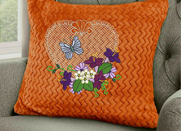Heart Butterfly n´ Flowers Machine Embroidery design