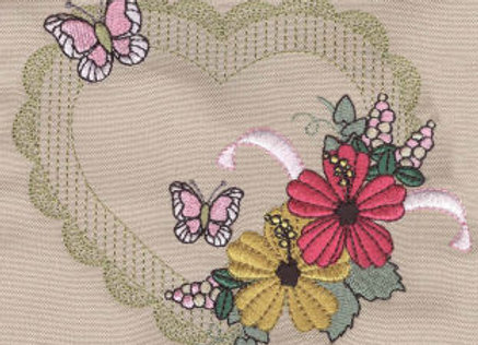 Machine Embroidered design Pillowcase/Cushion