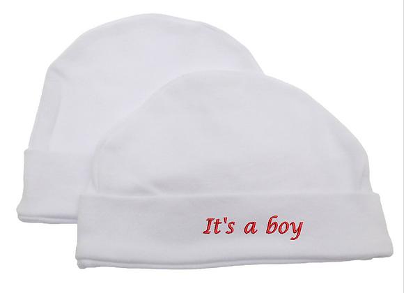 Embroidered Universal Textiles Baby Newborn 100% Cotton Allergy Free Hat Boy