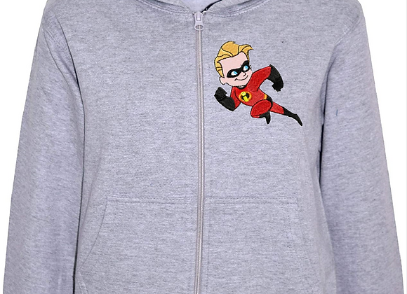 Machine Embroidery Boy's Hoodie-Dash from the Incredible