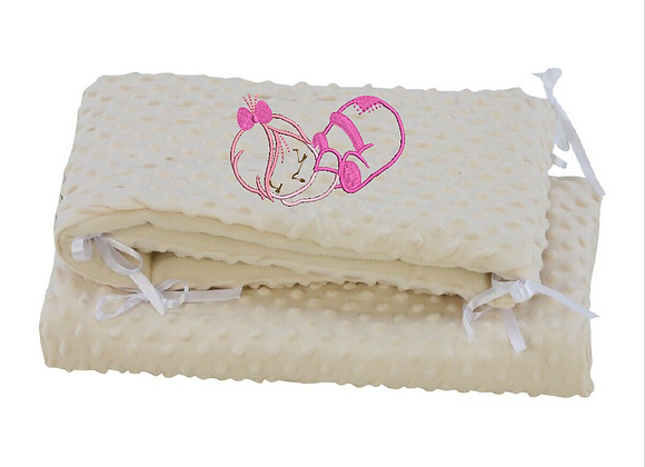 Embroidered Bumper Bedding Set
