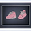 Thumbnail: 3D Baby Framed Shoes Machine Embroidered design