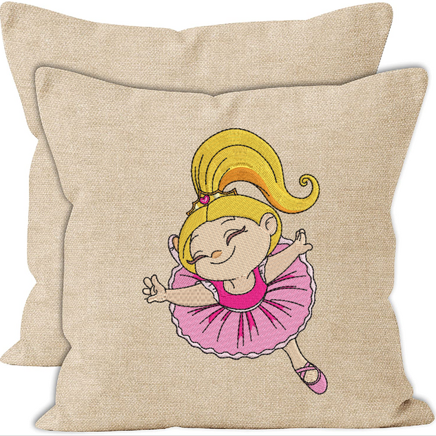 Ballerina design cushion cover