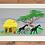 Thumbnail: African safari Machine Embroidered village Art