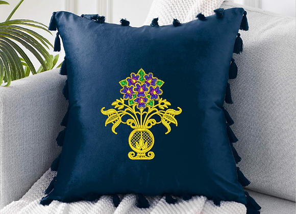 Embroidered Pattern Cushion Cover
