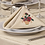 Thumbnail: Table Napkin Machine Embroidered-Flower Patch design