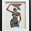 Thumbnail: Machine Embroidered Art African Woman