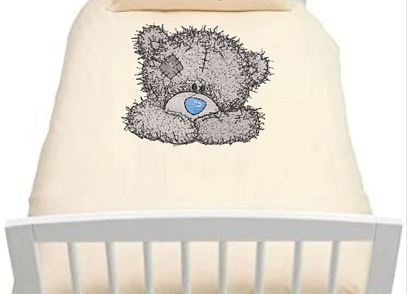 Machine Embroidered (With Love from me to you )Kids Duvet cover