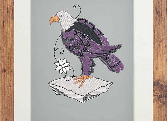 Embroidered Eagle Art Portrait
