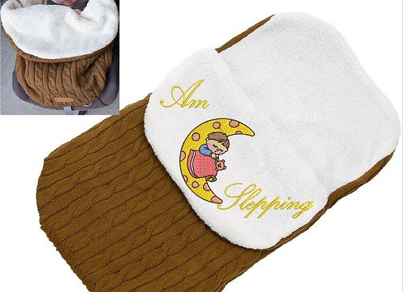 Machine Embroidered Baby Hood design