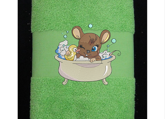 Machine Embroider Mouse Shower