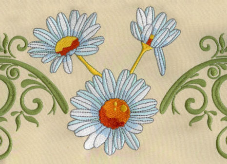 Machine Embroidery of Gigaframe Daisy