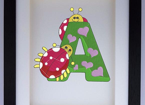 Bug Alphabet A Machine Embroidery design